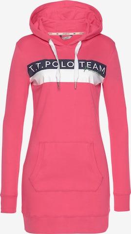 Tom Tailor Polo Team Sweatshirt in Pink