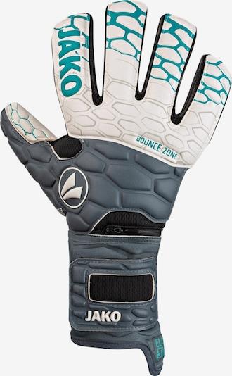 JAKO Sporthandschuhe in türkis / grau / weiß, Produktansicht