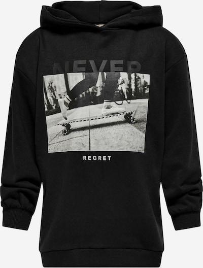 KIDS ONLY Sweatshirt 'Konfie' in dunkelgrau / schwarz / weiß, Produktansicht