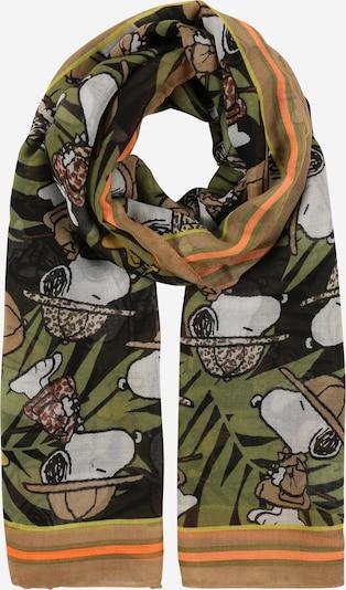 CODELLO Écharpe 'Peanuts' en kaki / mélange de couleurs, Vue avec produit