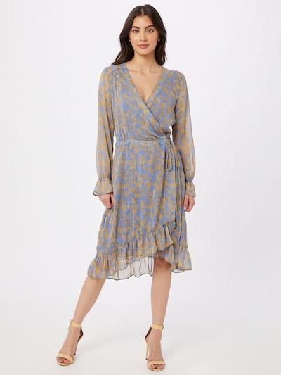 Freebird Kleid 'Zowy' in gelb / lavendel, Modelansicht