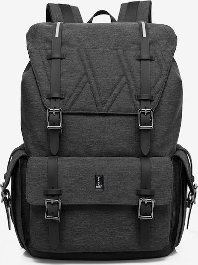 Peak Time Rucksack in graumeliert / schwarz, Produktansicht