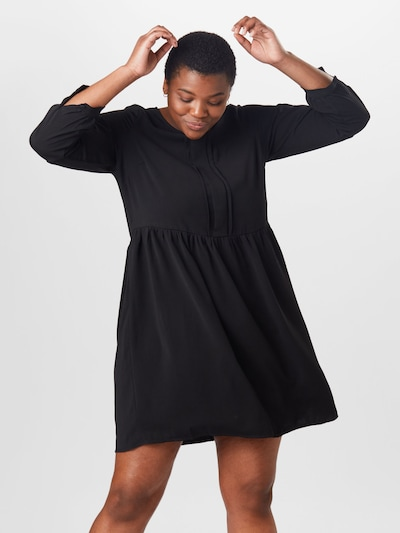 ONLY Carmakoma Kleid 'PLANO' in schwarz, Modelansicht