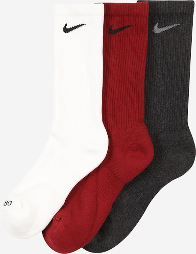 NIKE Sports socks in Anthracite / Red / White, Item view