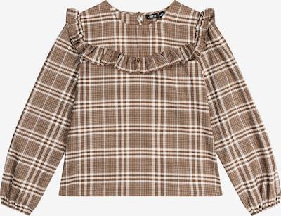 LMTD Blouse 'Rusanne' in de kleur Bruin / Lichtbruin / Wit, Productweergave