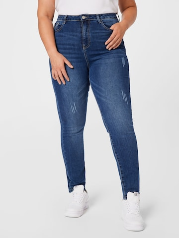 Missguided Plus Jeans in Blauw