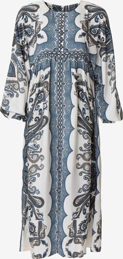 Indiska Рокля в опушено синьо / кобалтово синьо / гълъбово синьо / кафяво / бяло: Изглед отпред