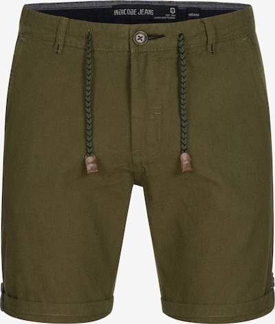 INDICODE JEANS Pantalon chino ' Beauvals ' en kaki: Vue de face