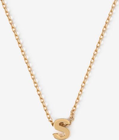 Orelia Chaîne 'Initial S' en or, Vue avec produit