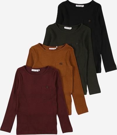 NAME IT Shirt 'RASMUS' in cognac / dark green / bordeaux / black, Item view