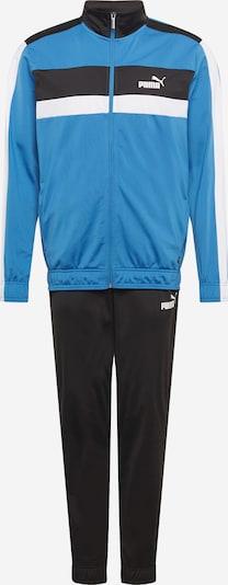 PUMA Trainingsanzug in himmelblau / schwarz / weiß, Produktansicht
