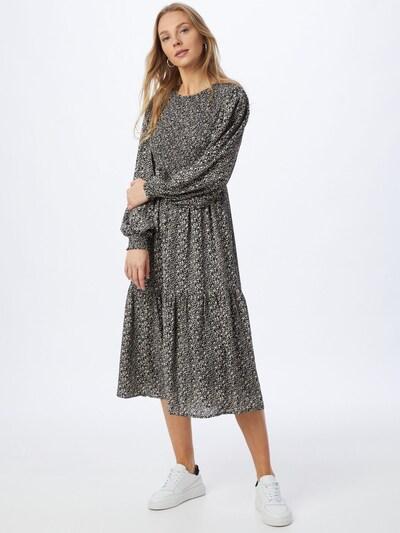 NÜMPH Kleid 'CALTUM' in creme / grau / schwarz, Modelansicht