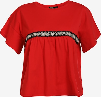 faina Shirt in rot / schwarz / weiß, Produktansicht