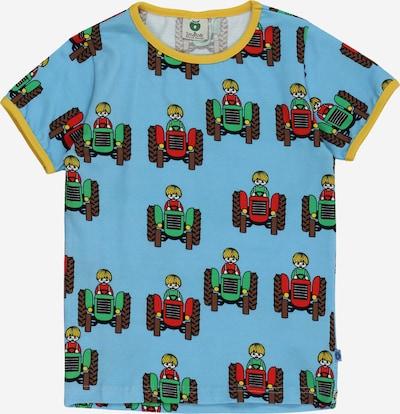 Småfolk Тениска в светлосиньо / тъмнокафяво / жълто / зелено / червено, Преглед на продукта