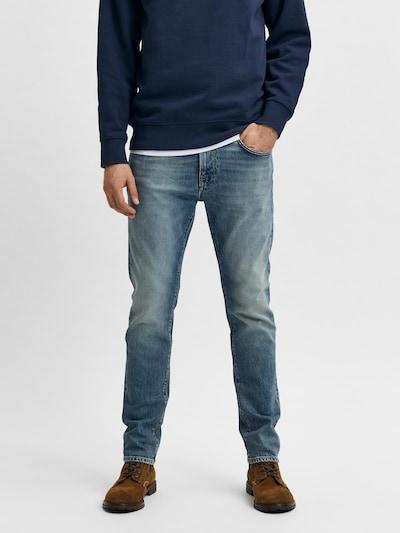 SELECTED HOMME Jeans 'Leon' in blue denim, Modelansicht