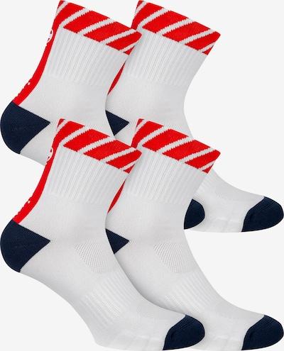 Champion Authentic Athletic Apparel Chaussettes de sport ' 4er-Pack Performance ' en rouge / noir / blanc, Vue avec produit