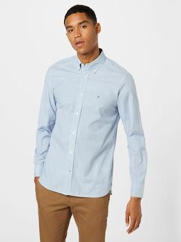 Svetlomodrá košeľa Tommy Hilfiger s jemným vzorom