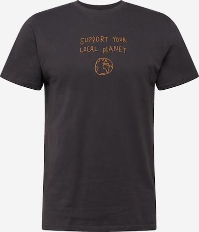 DEDICATED. Majica 'Stockholm Local Planet' u med / tamo siva, Pregled proizvoda