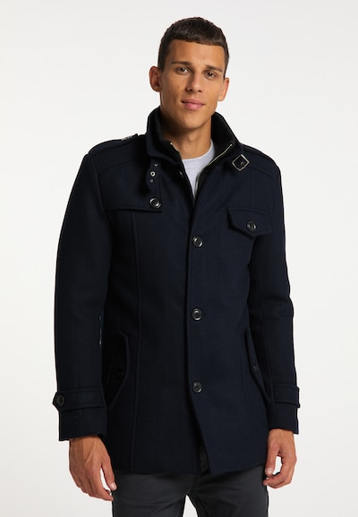 MO Mantel in navy, Modelansicht