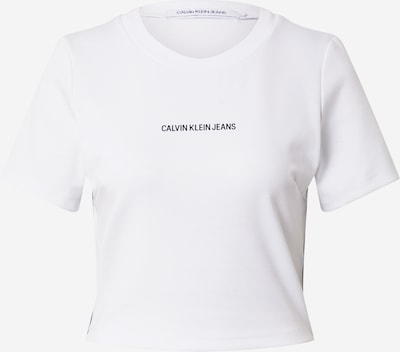 Tricou 'MILANO' Calvin Klein Jeans pe negru / alb, Vizualizare produs