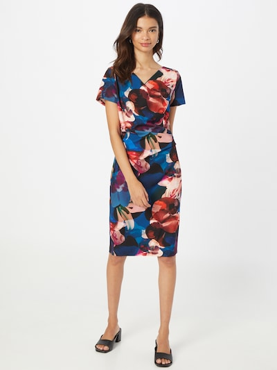Vera Mont Cocktail Dress in Dark blue / Light brown / Mixed colors / Red, View model