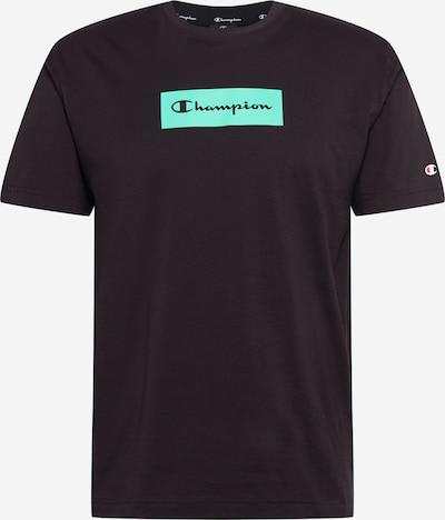 Champion Authentic Athletic Apparel Majica | svetlo zelena / črna barva: Frontalni pogled