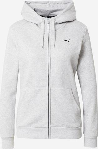 PUMA Athletic Zip-Up Hoodie in Grey