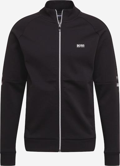 BOSS ATHLEISURE Sweatjacke 'Skaz 1' in schwarz / weiß, Produktansicht