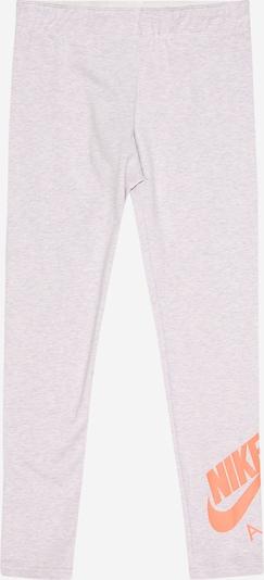 Nike Sportswear Leggings en gris chiné / orange fluo, Vue avec produit