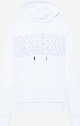 Sweat-shirt Calvin Klein en blanc