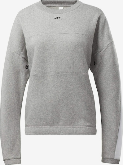 REEBOK Sweatshirt in grau / schwarz / weiß, Produktansicht