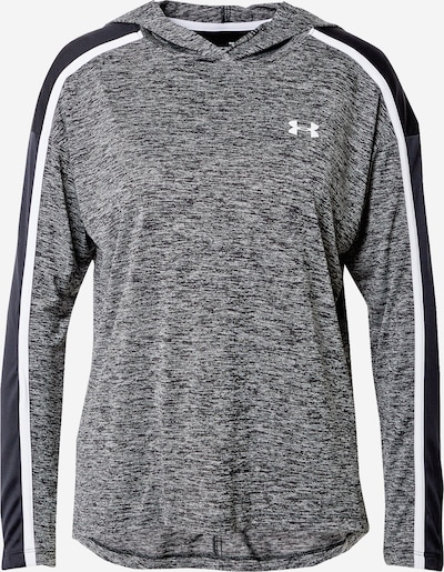 UNDER ARMOUR Sportief sweatshirt in de kleur Zwart / Zwart gemêleerd / Wit, Productweergave