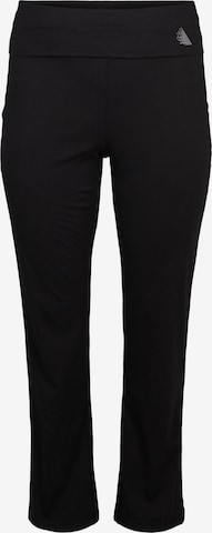 Active by Zizzi Workout Pants 'Abasic' in Black