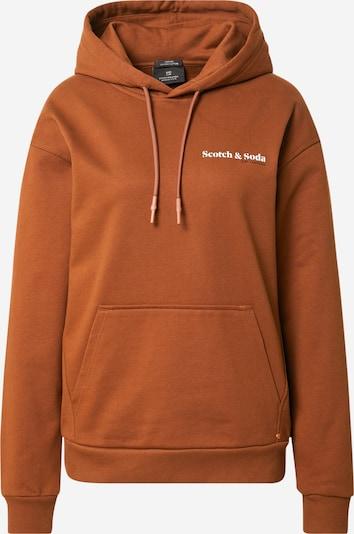 SCOTCH & SODA Sweatshirt in braun / schwarz / weiß, Produktansicht
