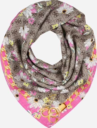 GUESS Shawl in brown / yellow / emerald / pink / white, Item view