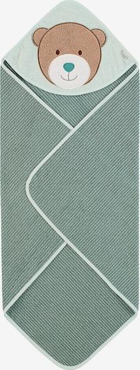 Halat de baie 'Ben' STERNTALER pe maro deschis / verde petrol / verde pastel / negru / alb, Vizualizare produs