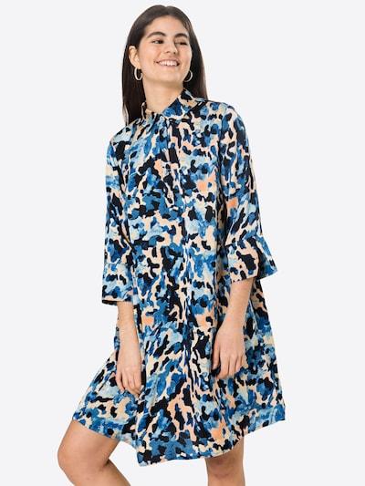 Rochie tip bluză Love & Divine pe crem / albastru / albastru deschis / negru, Vizualizare model