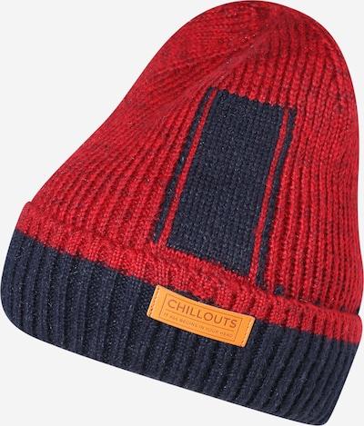 chillouts Bonnet 'Boyd' en bleu marine / rouge, Vue avec produit