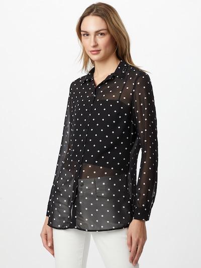 GUESS Bluse 'CLOUIS' in schwarz / weiß, Modelansicht