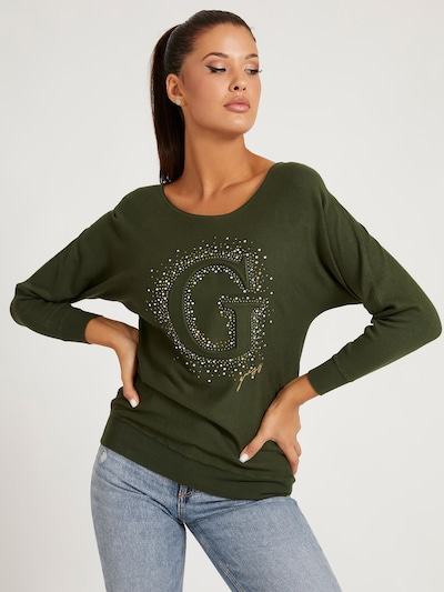 GUESS Sweater in Khaki, Item view