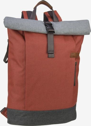 ZWEI Kurierrucksack ' Benno BE250 ' in grau / rot, Produktansicht