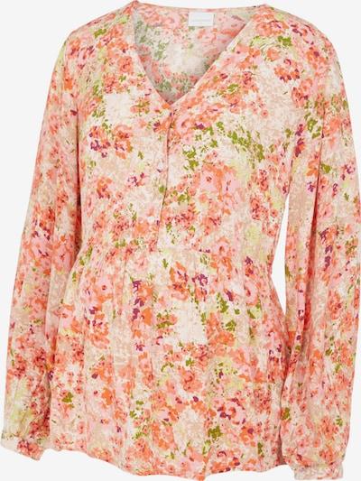 MAMALICIOUS Bluse 'Anya' in creme / grün / apricot / rosé, Produktansicht