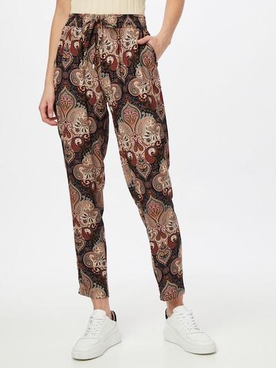 Hailys Pantalon 'Ricky' en beige / rouille / noir, Vue avec modèle
