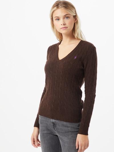 POLO RALPH LAUREN Pullover 'Kimberly' in dunkelbraun, Modelansicht
