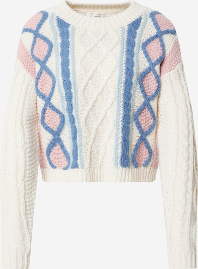 Guido Maria Kretschmer Collection Sweater 'Nova' in Blue / Pink / Off white, Item view