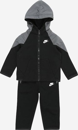 Tuta da jogging Nike Sportswear di colore grigio basalto / nero / bianco, Visualizzazione prodotti