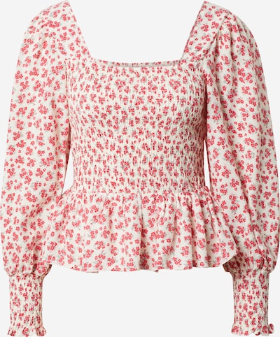 NEW LOOK Bluse 'JESSICA' in opal / rot / weiß, Produktansicht
