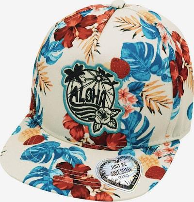 Pălărie 'Aloha' MAXIMO pe albastru fumuriu / galben șofran / roșu ruginiu / negru / alb natural, Vizualizare produs