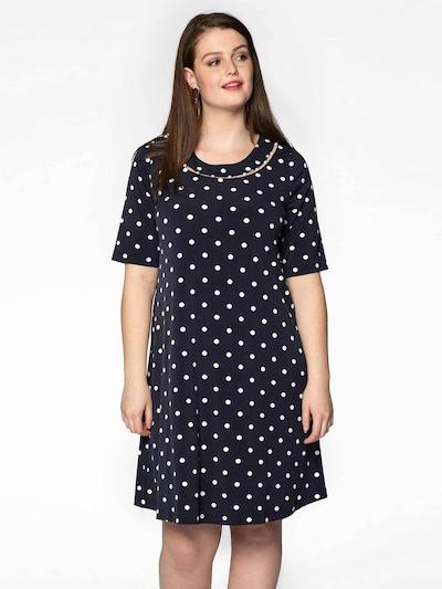 Yoek Kleid in blau, Modelansicht