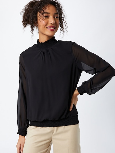 PIECES Bluse 'AMALIE' in schwarz, Modelansicht
